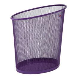 Corbeille à papier en métal violet - 18L - parure Mesh (photo)