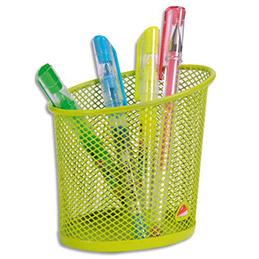 Pot à crayons en métal vert - ligne Mesh