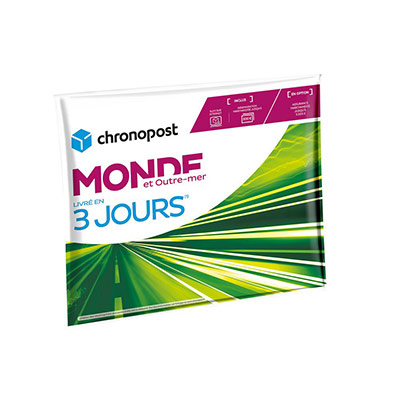 Pochette gonflable Chrono Express Monde & Outre-Mer - 2 kg (photo)