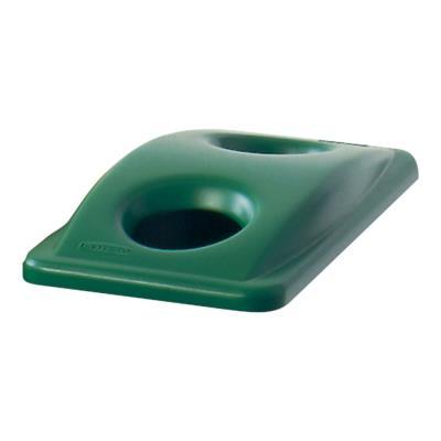 Poubelle Slim Jim couvercle vert 288 x 518 x 70 mm