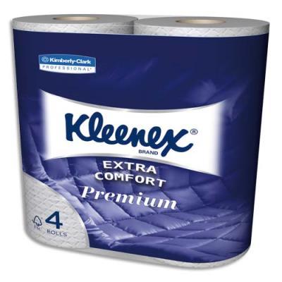 Papier toilette Kleenex Extra Comfort - 4 plis - lot de 4 rouleaux de 160 feuilles