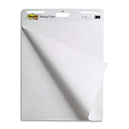 Meeting-Charts Post-It - bloc de 30 feuilles pour affichage mural - 63,5 x 77,4 cm - lot de 3 (photo)