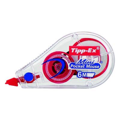 Roller de correction Tipp-Ex Mini Pocket Mouse Fashion - 5mm x 5m - assortis translucides - lot de 10