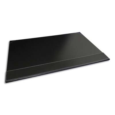 Sous-main àrabat simili cuir Pavo - Dimensions L50 x H35 x P1 cm coloris noir