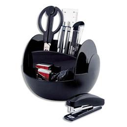 Pot à crayons Pavo - 6 compartiments - livré garni - coloris noir