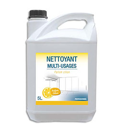 Nettoyant désodorisant multi-usages pour sols et surfaces dures - parfum citron - bidon de 5L (photo)