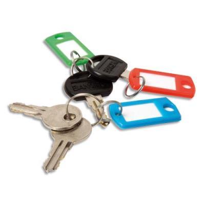 Lot de 20 porte-clés - coloris assortis (photo)