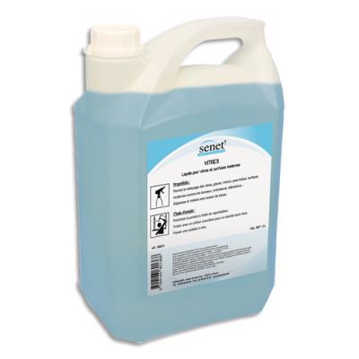 Nettoyant pour les vitres et surfaces modernes bleu, dégraissant et nettoyant - bidon de 5L (photo)