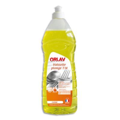 Liquide vaisselle concentré 14% matière active - Ph neutre - parfum citron - flacon 1L (photo)