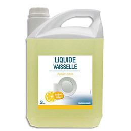 Liquide vaisselle concentré - Ph neutre - parfum citron - bidon de 5L (photo)