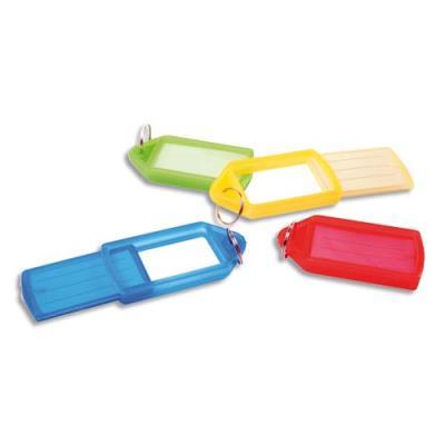 Lot de 5 porte-clés avec anneau - coloris assortis (photo)