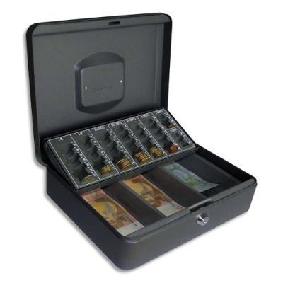 Coffret-caisse à monnaie et billets Pavo - 30 x 9 x 23 cm (photo)
