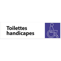 plaque de signalisation toilettes handicapes 17 x 4 7 cm achat pas cher. Black Bedroom Furniture Sets. Home Design Ideas