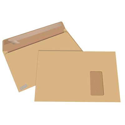 Enveloppe kraft blond Premium C4 229 x 324 mm 90g - avec fenêtre - ouverture grand côté - bande autoadhésive - boîte 250 unités
