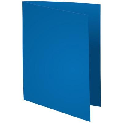 Chemise Exacompta Flash - carte recyclée 220 g - teinte vive bleu foncé - 24 x 32 cm - paquet de 100