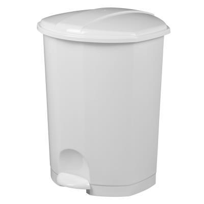 Poubelle à pédale Prima - 50 litres - blanc