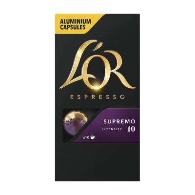Capsules de café L'Or compatibles Nespresso - Supremo - boîte de 10