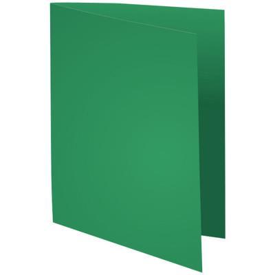 Chemise Exacompta Flash - carte recyclée 220 g - teinte vive vert foncé - 24 x 32 cm - paquet de 100