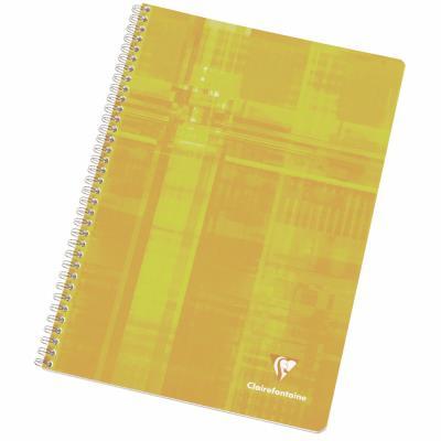 Cahier Clairefontaine Metric - reliure spirales - 17 x 22 cm - 100 pages - grands carreaux - papier 90g