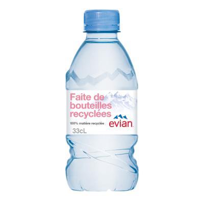 Bouteille d'eau minérale Evian - 33 cl (photo)