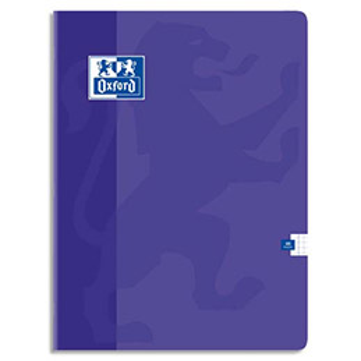 Cahier Oxford OPEN FLEX reliure piqûre - 24x32cm - 48 pages 90g - réglure 5x5 - Couverture polypro assortie
