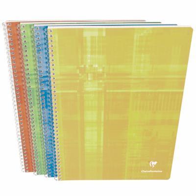 Cahier Clairefontaine Metric - reliure spirales - 24x32 cm - 100 pages - petits carreaux - papier 90g