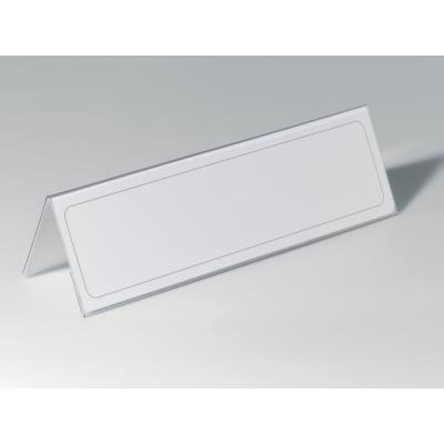 Chevalet porte-nom en PVC - 10,5 x 29,7 cm - boite de 25 (photo)