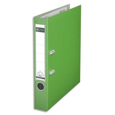 Classeur à levier 180 degrés LEITZ - en carton rembordé de polypropylène - dos de 7,5cm - coloris vert clair