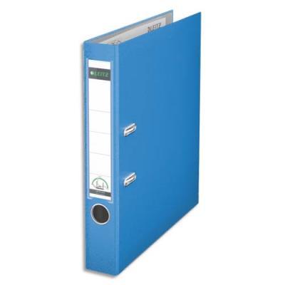 Classeur à levier 180 degrés LEITZ - en carton rembordé de polypropylène - dos de 7,5cm - coloris bleu clair