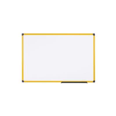 Tableau blanc émaillé magnétique Industrie Bi-Office - cadre jaune - L120 x H90 cm
