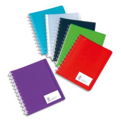 Protège documents VIQUEL MAXI GEODE - 30 pochettes/60 vues - polypro translucide 7/10ème - coloris assortis