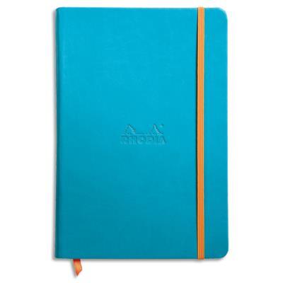 Carnet RHODIArama - 14,8 x 21 cm - 192 pages lignées - couverture rembordée turquoise