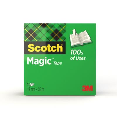 Magic Tape Ruban adhésif invisible largeur 19 mm x longueur 33 m (rouleau 33 mètres)