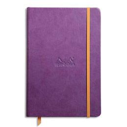Carnet RHODIArama - 14,8 x 21 cm - 192 pages lignées - couverture rembordée violet