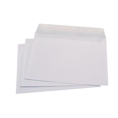 Enveloppe blanche C5 - 162 x 229 mm 80g sans fenêtre - bande autoadhésive - paquet 500 unités