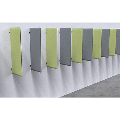 Drapeau acoustique Moody Tissu gris H. 120 cm (photo)
