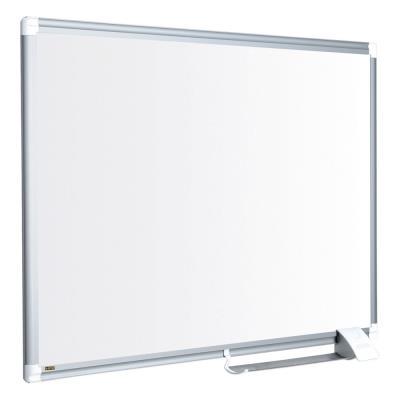 Tableau blanc Bi-Office Maya New Generation - magnétique - surface en acier laqué - cadre en aluminium gris- 900 x 600 mm