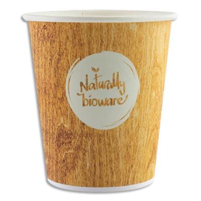 Gobelet en carton bioware pour boissons chaudes - 10 cl - sachet de 80 (photo)