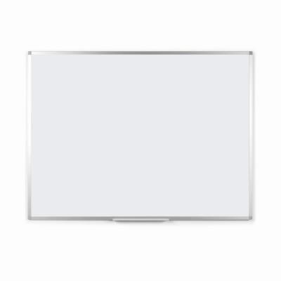 Tableau blanc laqué - magnétique - cadre aluminium - 60 cm x 90 cm