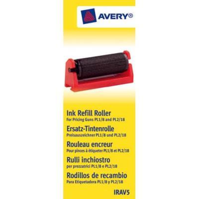 Boîte de 5 rouleaux encreur noir pour pince à étiqueter Avery 'PL1/8' et 'PL2/18' (photo)
