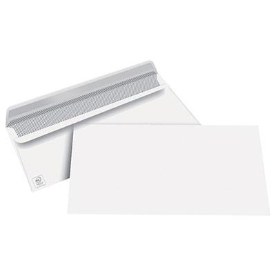 Enveloppes 110 x 220 mm 1er prix - blanches - autocollantes - 80 g - boîte de 500