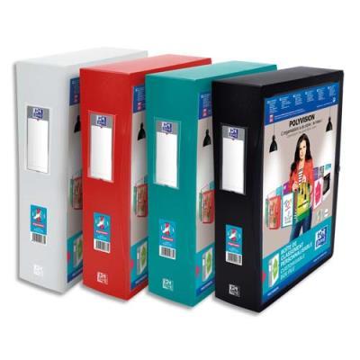 Boîte de classement personnalisable ELBA POLYVISION - format 24x32cm - dos 8cm - coloris assortis opaque