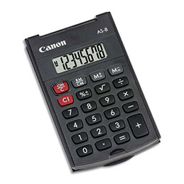 Calculatrice Canon AS-8 - noir (photo)