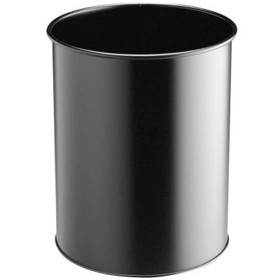 Corbeille à papier Confort métal - 15 litres - noir