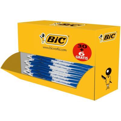 Pack éco de 30+6 stylo bille ATLANTIS bleu - pointe moyenne - rechargeable - bille indéformable (photo)