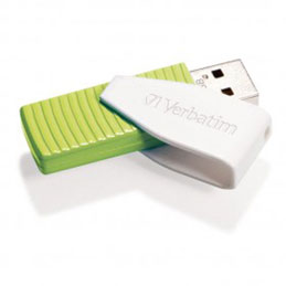 Clé USB 2.0 Verbatim Swivel - 32 Go - Verte (photo)