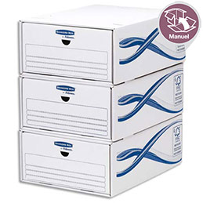 Tiroir Bankers Box® Basic - Lot de 5 tiroirs - Format A4