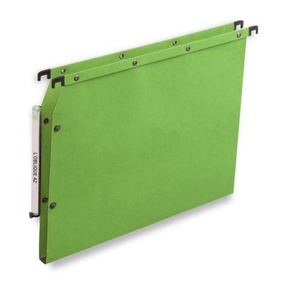 Dossiers suspendus AZV en carte Canson vert - pour armoire - fond 15 mm