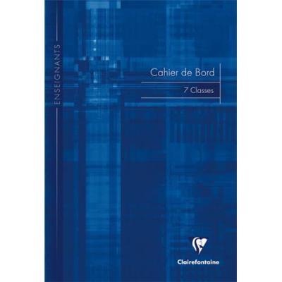 Agenda de bord Clairefontaine - pour gérer jusqu'à 7 classes - brochure souple - 21x29,7cm - 144 pages - Couverture carte (photo)