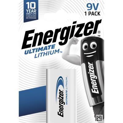 Pile Energizer 6LR61 Ultimate lithium - 9V - blister de 1 pile